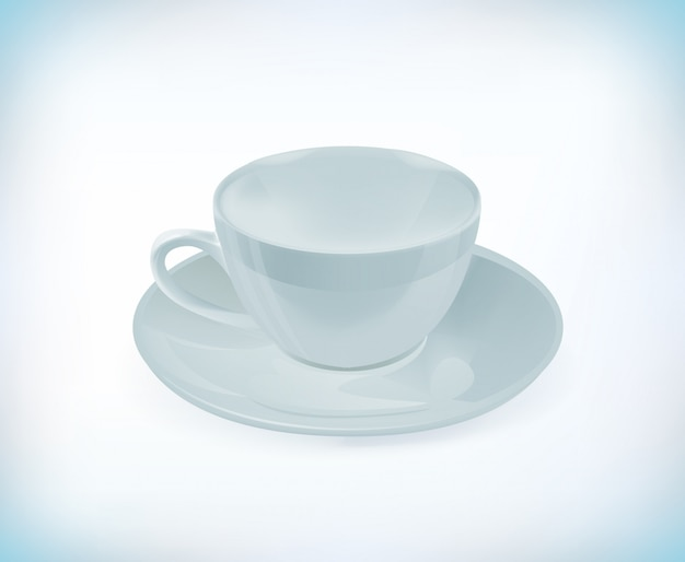 Белая чайная чашка.