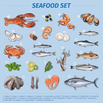 Коллекция морепродуктов