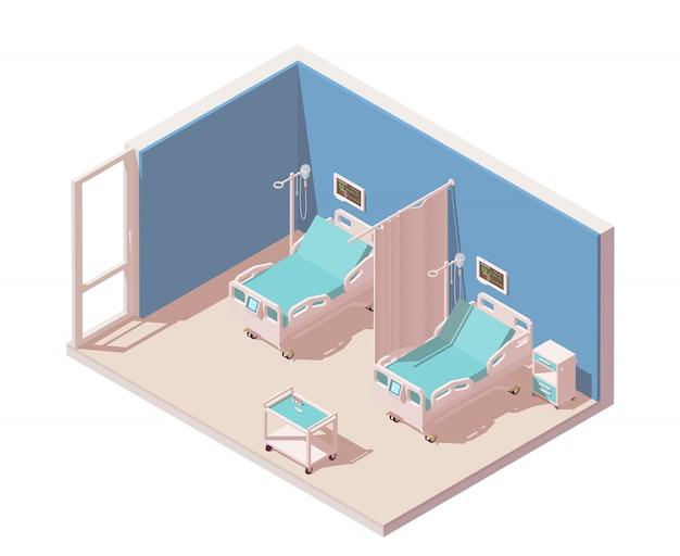 Больничная палата изометрическая