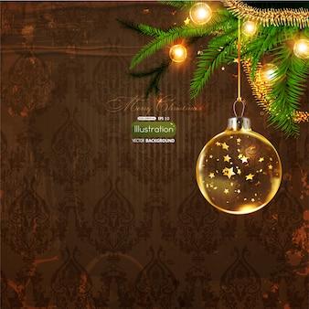 Темный рисунок плитки фон рождество