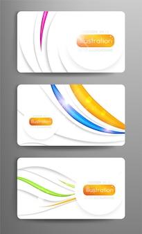 セットの装飾概念テンプレートウェブ