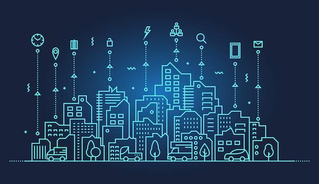 スマートシティのスカイラインの図