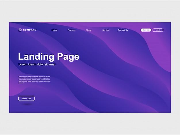 現代的なトレンディなカラーグラデーションのウェブサイトテンプレート