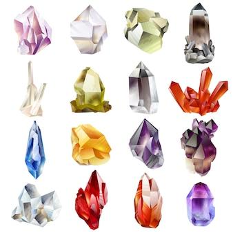 結晶と石の分離ベクトルを設定