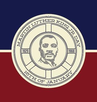 マーティン・ルーサー・キングの背景デザイン