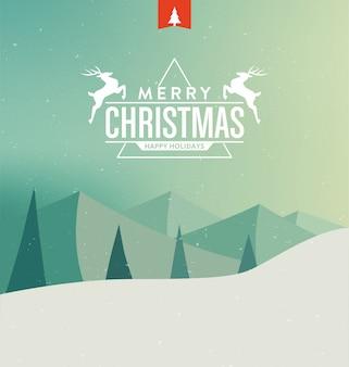 風景のクリスマスカード