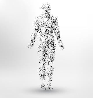 人体形状の背景デザイン