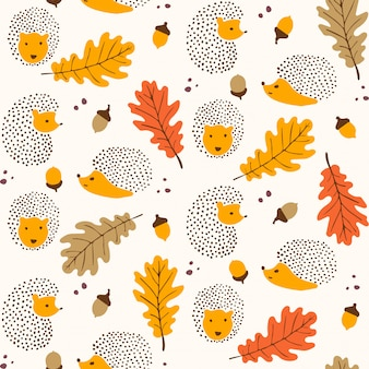 シームレスな秋のパターンデザイン