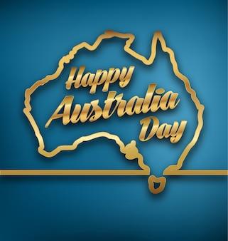 オーストラリアデイゴールドタイポグラフィーデザイン
