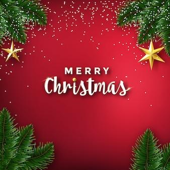 クリスマス休暇の背景と挨拶のデザイン