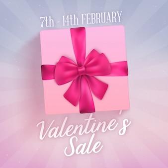 現実的なギフト用の箱とバレンタインデーの販売デザイン