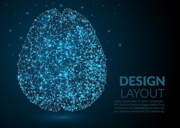 抽象分子脳のテンプレートデザイン