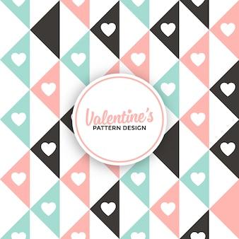 幾何学的なバレンタインデーの背景パターン