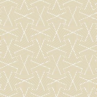 黄金の幾何学的なシームレスなラインパターン