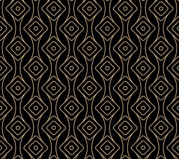シームレスなアールデコパターンデザイン