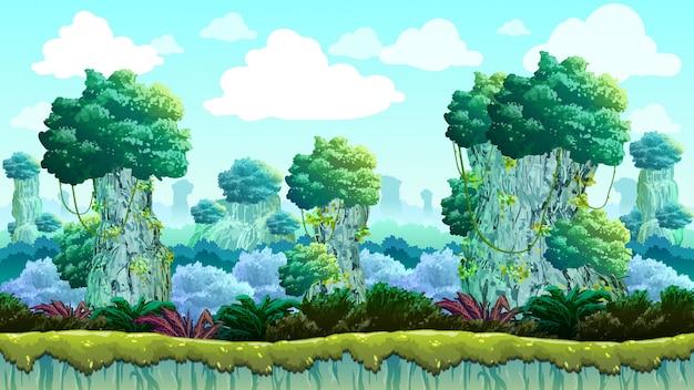 緑の山の丘ゲームの背景