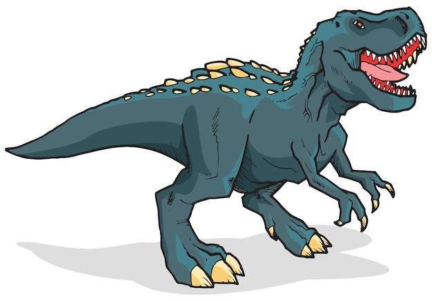 角のあるティラノサウルスレックス恐竜
