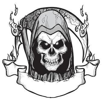 死神のエンブレムタトゥー