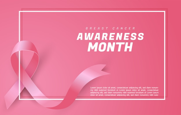 Рак молочной железы осведомленности ленты фон