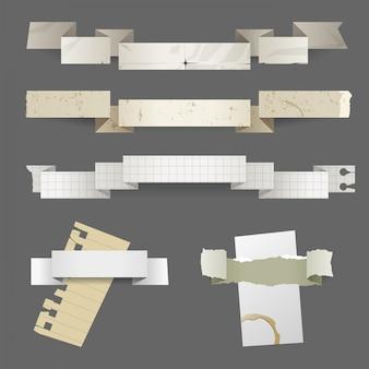 紙のバナーセット