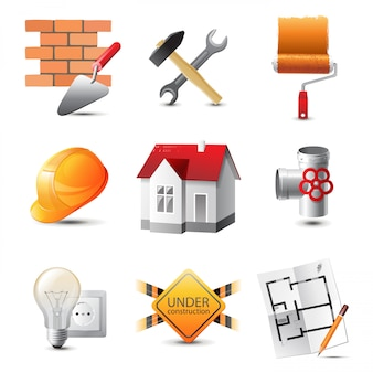 Иконки строительные