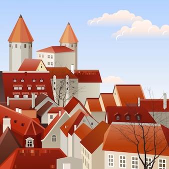 小さな町の風景