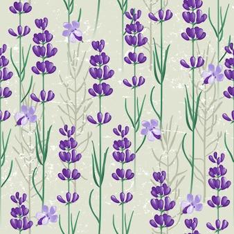シームレスなライラックの花のパターン