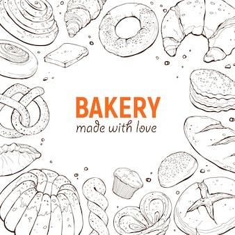Шаблон плаката пекарни