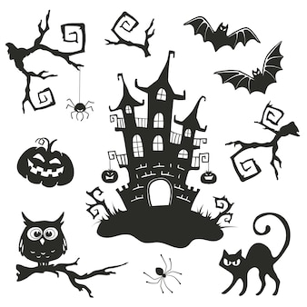 Хэллоуин векторные объекты