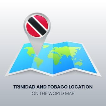 世界地図上のトリニダード・トバゴの場所アイコン