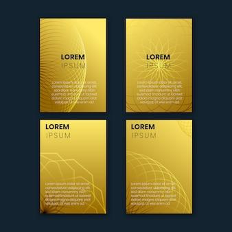ゴールドグラデーションと幾何学的なラインでデザインコレクションをカバー