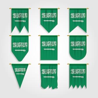 Флаг саудовской аравии в различных формах