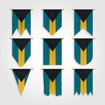 Флаг багамских островов в различных формах