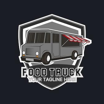 食品トラックのロゴテンプレート