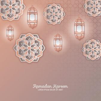 イスラムの幾何学的芸術のペーパーグラフィック