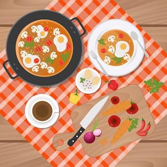 アジア料理の背景デザイン