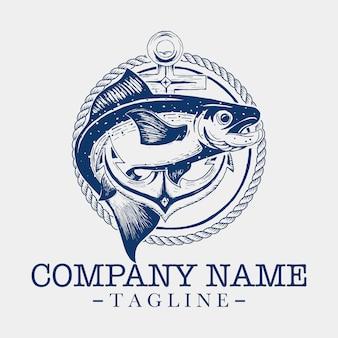 Шаблон логотипа рыба