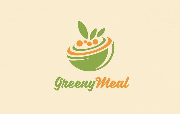 Шаблон логотипа здоровых органических продуктов питания