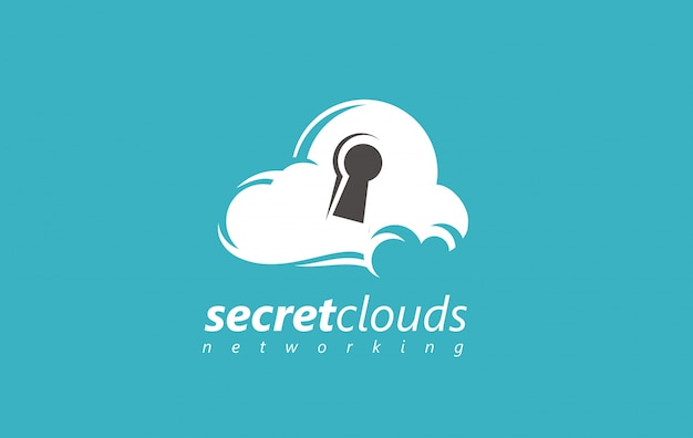 Логотип облачной безопасности.