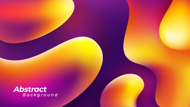 Абстрактная жидкостная предпосылка с оранжевым, красным и фиолетовым цветом.