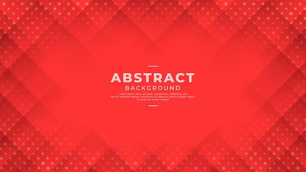 グラデーションラインとドットと抽象的な赤い背景。