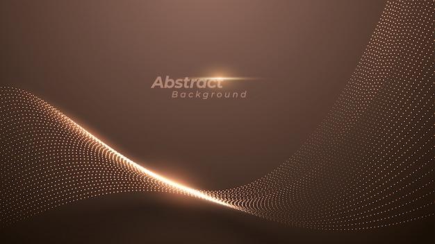 輝く抽象的なドットと豪華な背景。