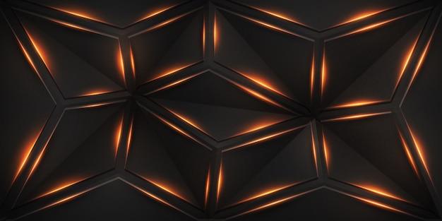 Абстрактный геометрический фон с блестящими линиями.
