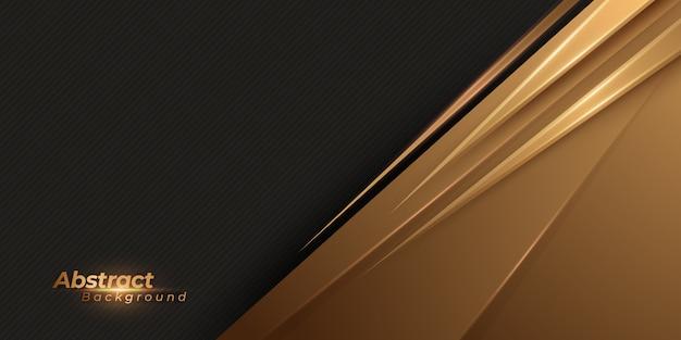 Абстрактный черный и золотой фон. роскошный геометрический фон.