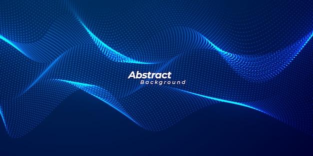 抽象的な粒子液体の動的フローの背景。