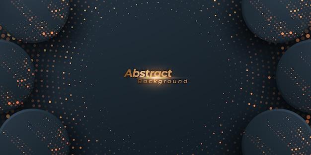 Абстрактный темный фон с полутоновыми точками