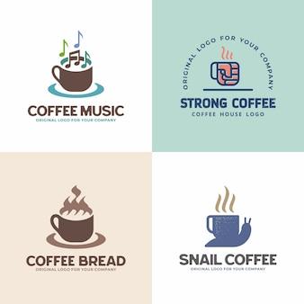 創造的なユニークな飲み物のロゴのコレクション。