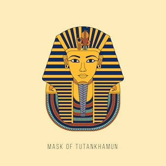 エジプトの黄金のファラオのマスク