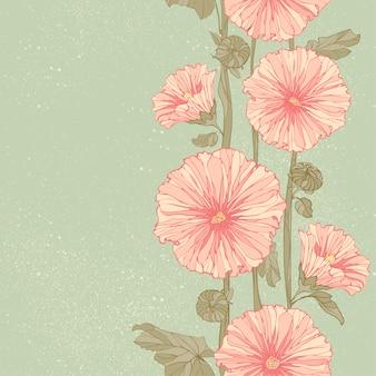 Бесшовный цветочный узор с пионами.