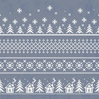 クリスマスのシームレスなパターン壁紙レトロなスタイルの無限のテクスチャ。